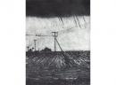'Field', drypoint, 15 x 19.5cm