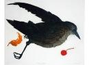 'Dead Bird', etching, 29.5 x 24.5cm