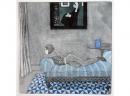 'Blue Jug', etching, 19.5 x 19.5cm