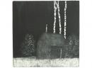 'Hut', etching, 19 x 20cm