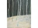 'Birchwood 3', oil, 62 x 71cm