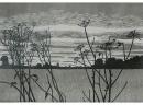 'Field', woodcut, 57 x 46 cm