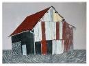 'Barn', woodcut, 73 x 59cm